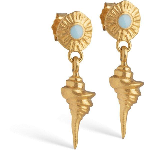 Earring, Blue shell