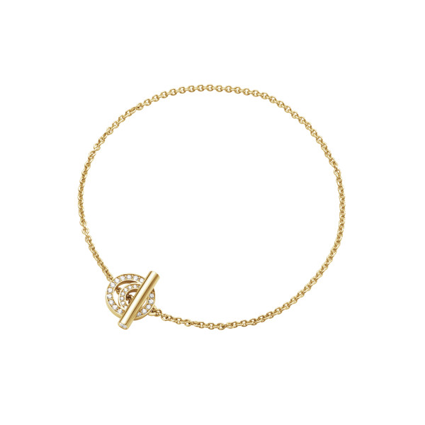 HALO armbånd – 18 kt. guld med brillantslebne diamanter
