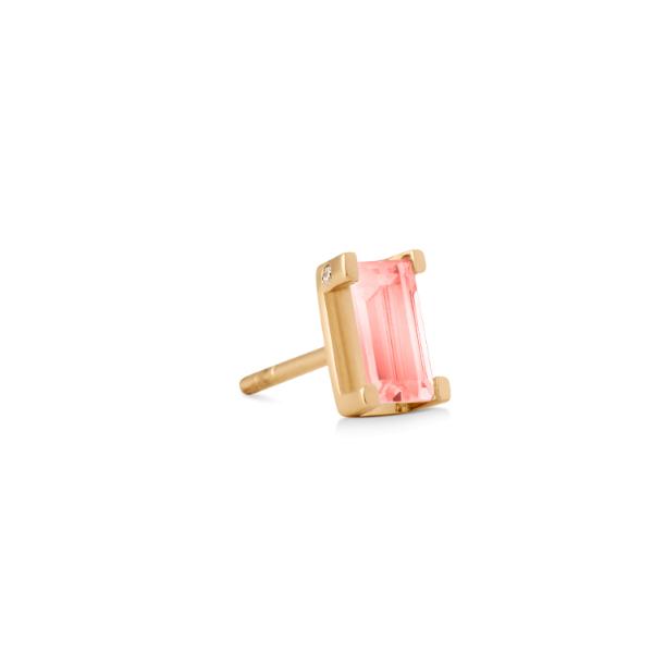 Nord pink turmalin ørestik