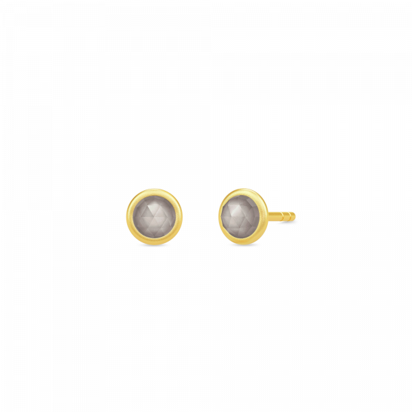 Moon earstuds grå