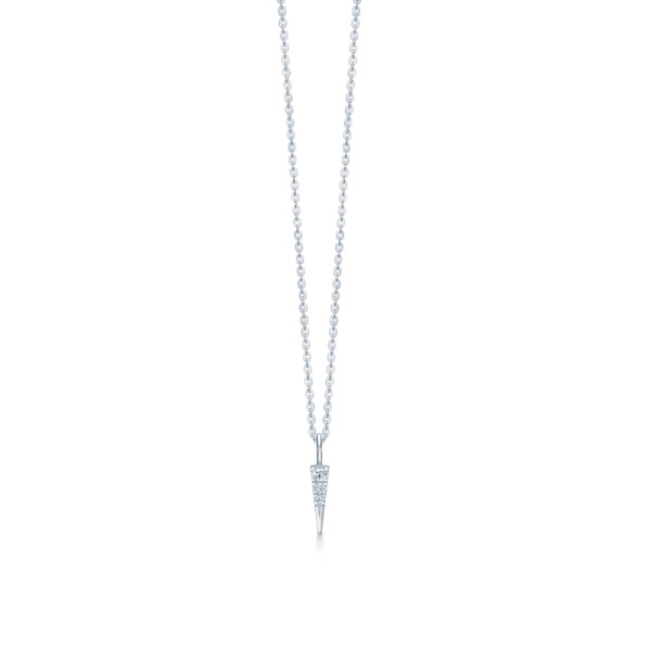 Glace Necklace - Rhodium/White