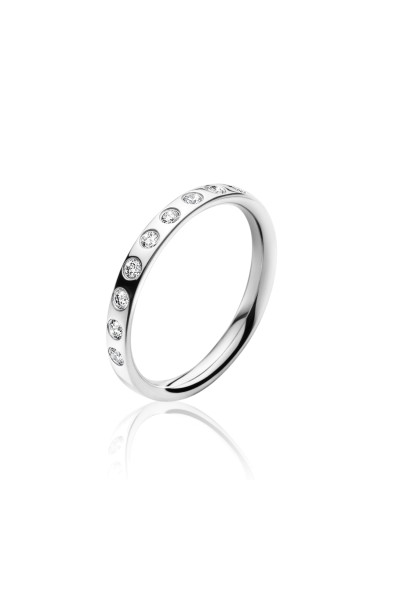 MAGIC ring - 18 kt. hvidguld med 0.18 ct brillanter