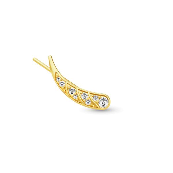Peacock single ørering højre / gold