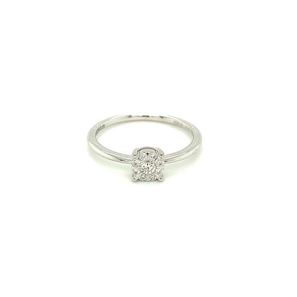 Illusion diamant ring 0.18ct TW/SI