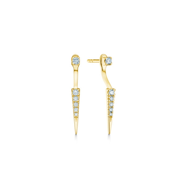 Glace Double Earstuds - Gold/White