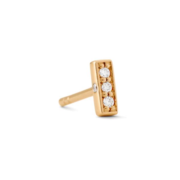 Rock square diamant ørestik 0,018ct