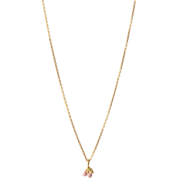 CHERRY NECKLACE PINK