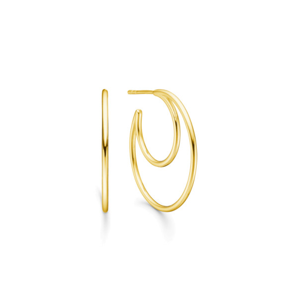 Sphere Hoops - Gold