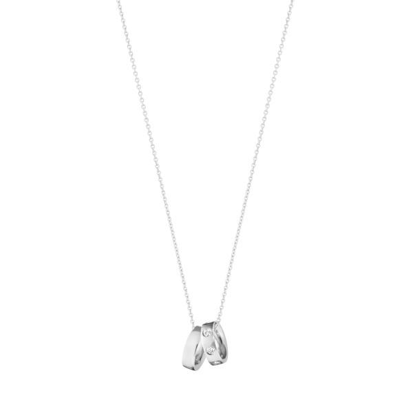 MAGIC charm-vedhæng - 18 kt. hvidguld med diamanter