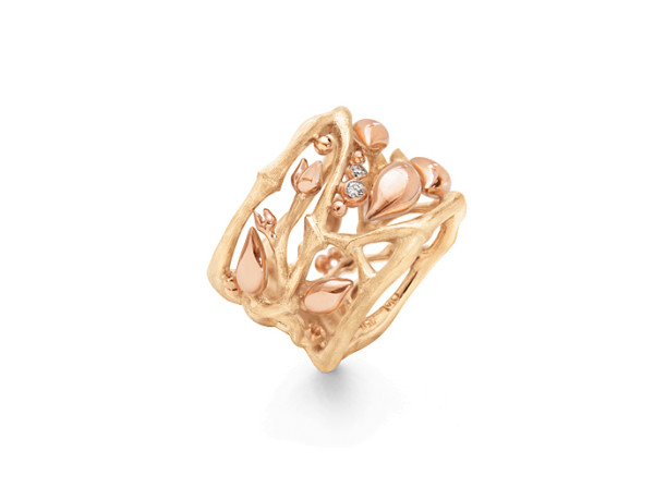 Forest ring rosa blade