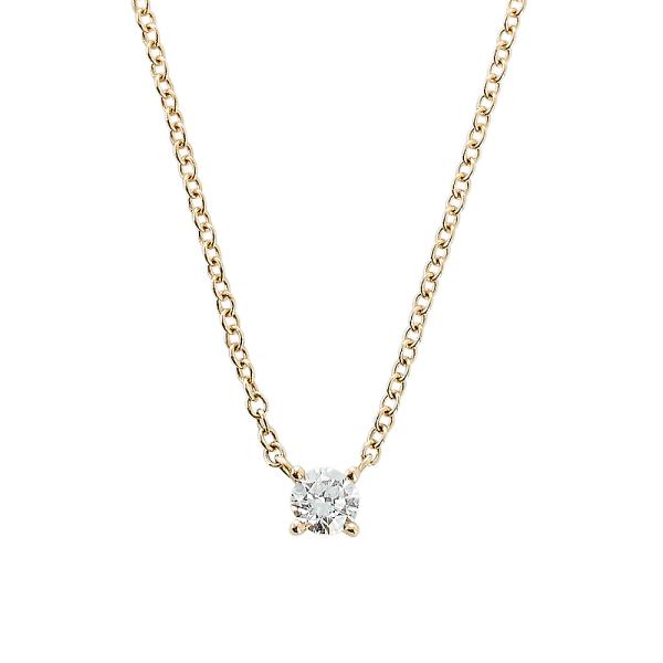 Kæde m/diamant 0,30ct TW/SI