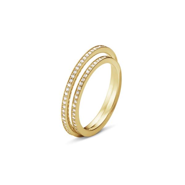 HALO ring - 18 kt. guld med brillantslebne diamanter