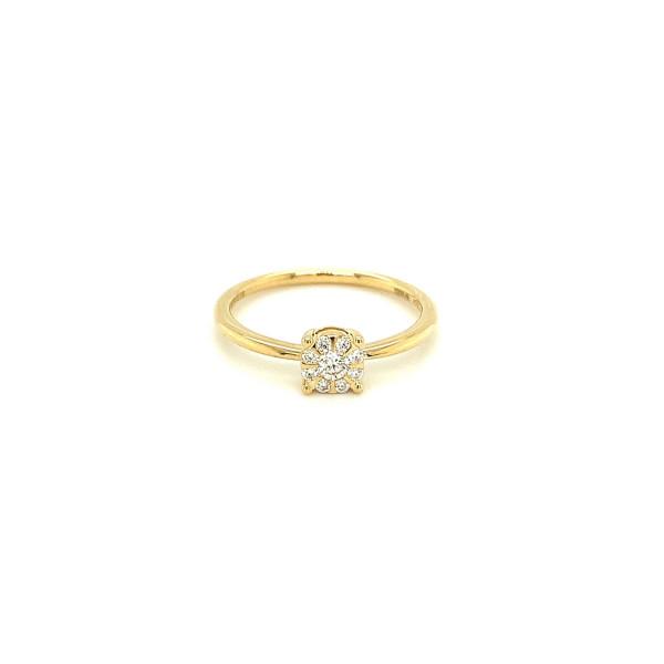 Illusion diamant ring 0.17ct TW/SI