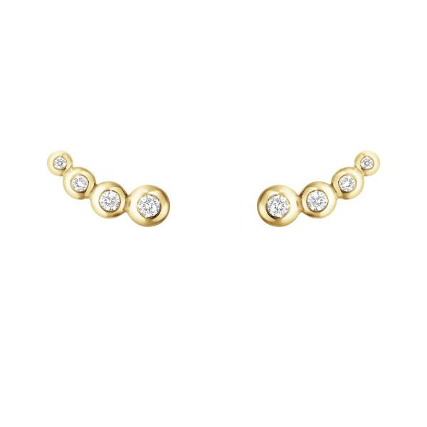AURORA øreringe - 18 kt. guld med brillantslebne diamanter