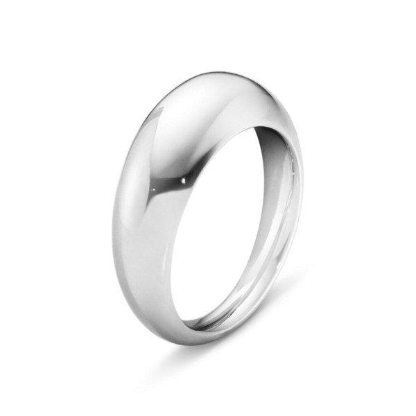 Curve slim ring sølv