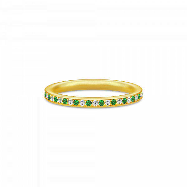 Infinity Ring Gold white/green