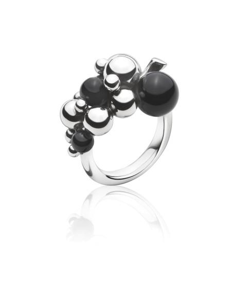 Grape ring lille sort onyx