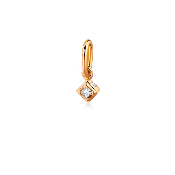 Rå classic diamant vedhæng i alt 0,025ct TW.VS