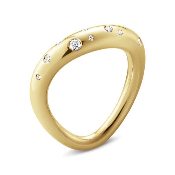 OFFSPRING ring - 18 karat guld med diamanter