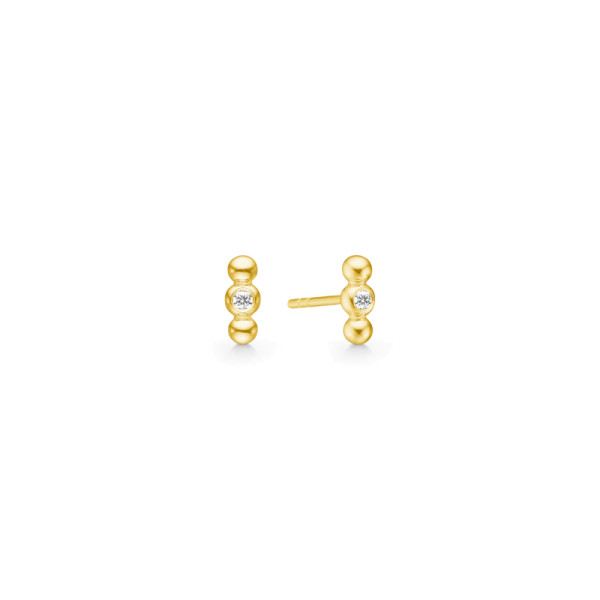 Bubbly Earstuds - Gold