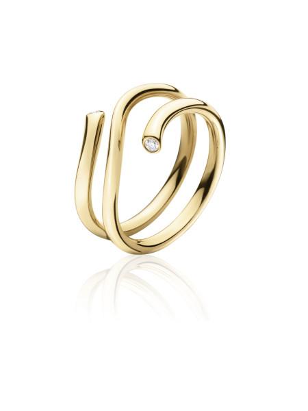 MAGIC ring - 18 kt. guld med 0.04 ct brillanter