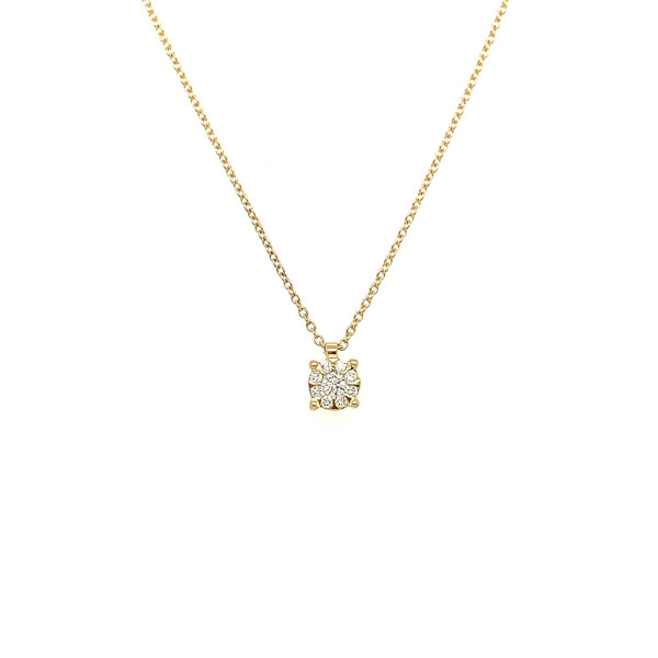 Illusion collier 0.06ct TW/SI