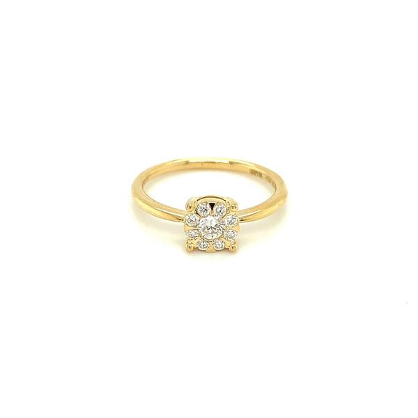Illusion diamant ring 0.42ct TW/SI
