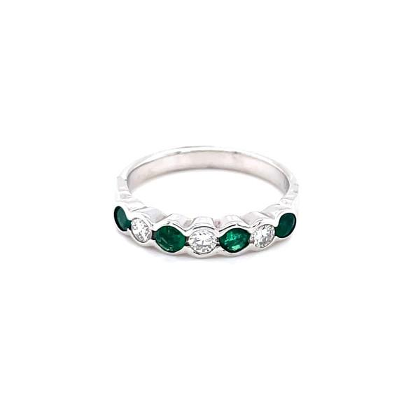 Smaragd ring 0,15ct tw.si og 0,20 smaragd